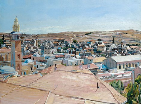 Jerusalem, Looking to Mount Scopus (1925) by David Bomberg