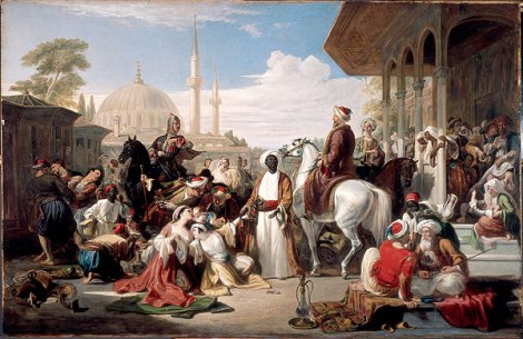 The Slave Market, Constantinople (1838) by William Allan