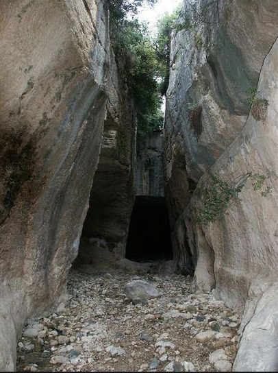back of the church tunnel, Cave Church of St. Peter, Antioch
