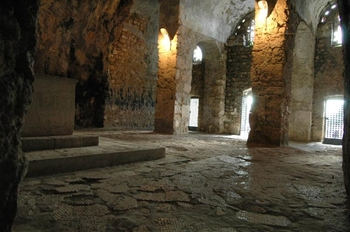 "Interior view looking towards entrance. Photo © Dick Osseman.""christian architecture in syria"""